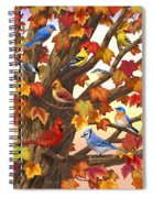 Maple Tree Marvel - Bird Painting Spiral Notebook