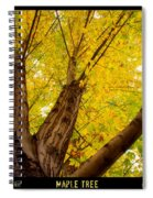 Maple Tree Poster Spiral Notebook
