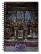 Maramures Romania Church Interior Spiral Notebook