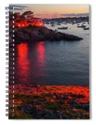 Marblehead Harbor Illumination 2017 Chandler Hovey Spiral Notebook