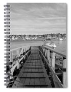 Marblehead Massachusetts Dock Spiral Notebook