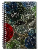 Marbles Clear Soda 2 Spiral Notebook