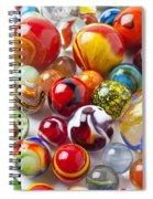 Marbles Close Up Spiral Notebook