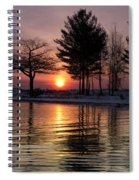 March Sunrise At Detroit Point Spiral Notebook