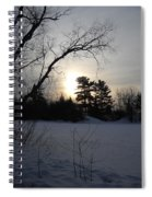 March Sunrise Behind Pines Spiral Notebook
