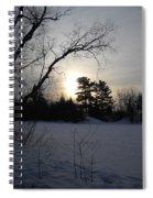 March Sunrise Behind Pines Spiral Notebook