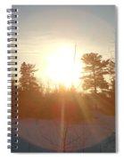 March Sunrise Circle Spiral Notebook