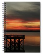 March Sunset Spiral Notebook