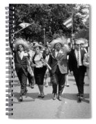 Marchers Wearing Hats Carry Puerto Rican Flags Down Constitution Avenue Spiral Notebook