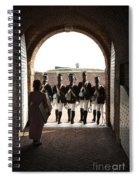Marching Off On Detail At Fort Mchenry Spiral Notebook