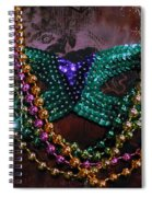 Mardi Gras Feminine Mystique Spiral Notebook