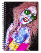 Mardi Gras Lady Spiral Notebook