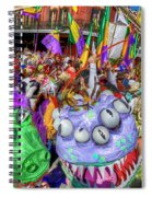 Mardi Gras Mob Spiral Notebook