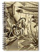 Mardi Gras - New Orleans 3 - Sepia Spiral Notebook
