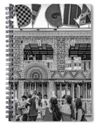 Mardi Gras North - Bw Spiral Notebook