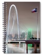 Margaret Hunt Hill Bridge Flag Spiral Notebook