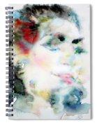 Maria Callas - Watercolor Portrait.4 Spiral Notebook