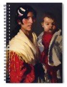 Maria Y Consuelo Gitana 1906 Spiral Notebook