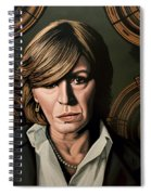 Marianne Faithfull Painting Spiral Notebook
