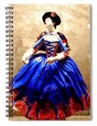 Marie Antoinette Figurine In New Orleans Spiral Notebook