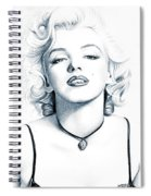 Marilyn Black And White Spiral Notebook