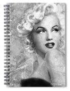 Marilyn Danella Ice Bw Spiral Notebook