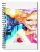Marilyn In Italy Spiral Notebook