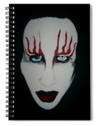 Face Black White Red Spiral Notebook