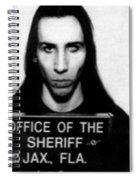 Marilyn Manson Mug Shot Vertical Spiral Notebook