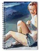 Marilyn Mermaid Fragmented Spiral Notebook
