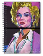 Marilyn Monroe Dyptich Spiral Notebook