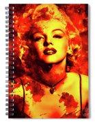 Marilyn Monroe   Golden  Spiral Notebook
