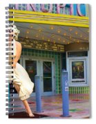 Marilyn Monroe In Front Of Tropic Theatre In Key West Spiral Notebook
