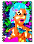 Marilyn Monroe Light And Butterflies Spiral Notebook