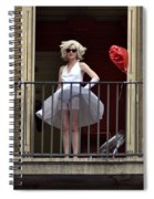 Marilyn Monroe Lookalike Spiral Notebook
