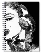 Marilyn Monroe Painting - Bombshell Black And White - By Sharon Cummings Spiral Notebook