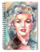 Marilyn Monroe Portrait Spiral Notebook