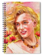 Marilyn Monroe With Poppies Spiral Notebook