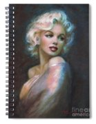 Marilyn Romantic Ww Dark Blue Spiral Notebook