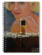 Marilyn With Chanel And Pearls Spiral Notebook