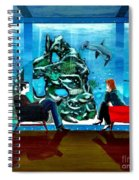 Marinelife Observing Couple Sitting In Chairs Spiral Notebook