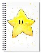 Mario Invincibility Star Watercolor Spiral Notebook