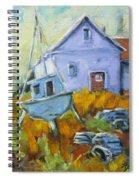 Maritime Scene Spiral Notebook