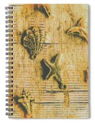 Maritime Sea Scroll Spiral Notebook