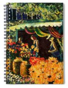 Market In Provence Spiral Notebook