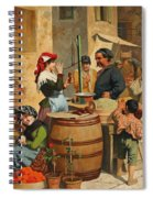 Market Scene In Trieste Spiral Notebook
