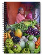 market stall in Nicaragua Spiral Notebook