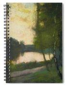 Markischer See Am Abend Spiral Notebook