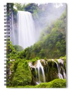 Marmore Waterfalls Italy Spiral Notebook