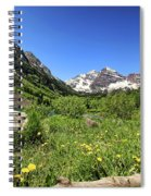Maroon Bells In Summer 2 Spiral Notebook